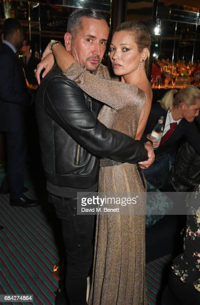 Fat Tony and Kate Moss attend a private dinner celebrating the launch of the KATE MOSS X ARA VARTANIAN collection at Isabel on May 17 2017 in London...
