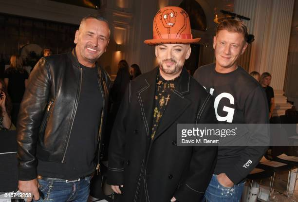 Fat Tony Boy George and David Graham attend the Vin Omi Spring/ Summer 2018 show ahead of London Fashion Week September 2017 at Andaz London on...