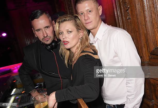 Fat Tony Kate Moss and David Graham attend Sam McKnight's 60th Birthday Party at Tramp on May 14 2015 in London England
