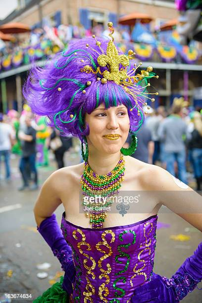 Fat Tuesday costume in New Orleans