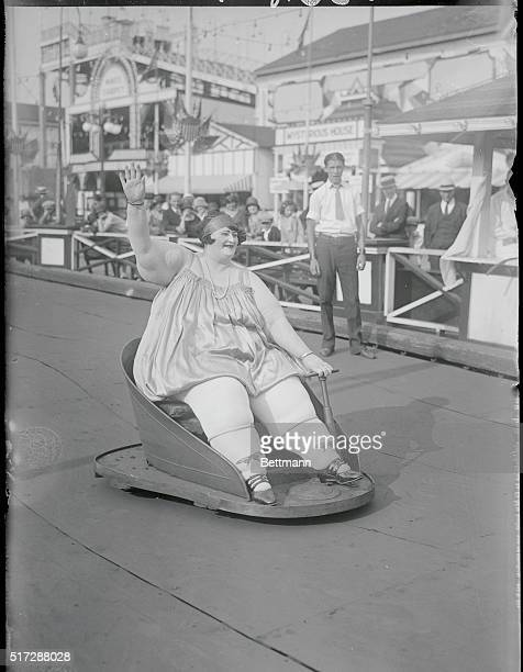 Fat Women's Contest Coney Island NY When Jolly Marie weighing 620 pounds won the fat girls contest at Luna Park she received the prize of $25 and a...