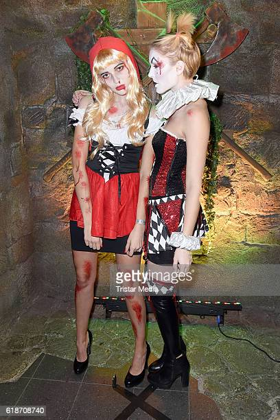 Fata Hasanovic and Kim Hnizdo attend the Halloween party by Natascha Ochsenknecht at Berlin Dungeon on October 27 2016 in Berlin Germany
