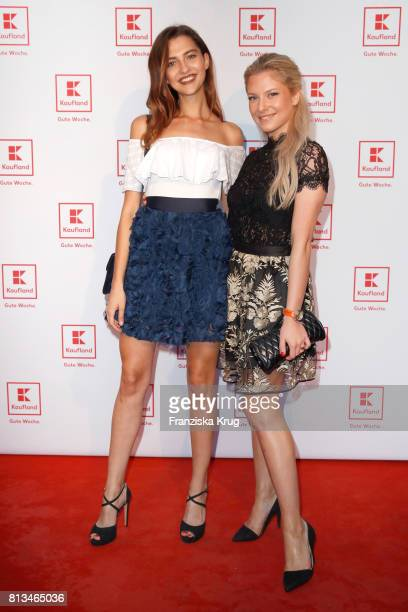 Fata Hasanovic and Valentina Pahde attend the Kaufland Hosts VIP BBQ at OberhafenKantine on July 12 2017 in Berlin Germany