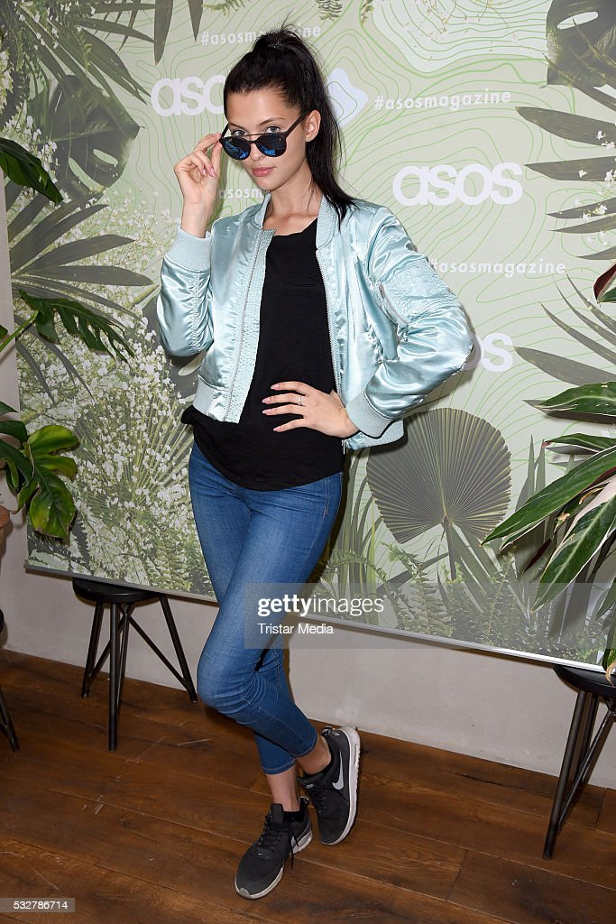 Fata Hasanovic attends the 'Into the Wild' ASOS Magazin Launch Party on May 19 2016 in Berlin Germany