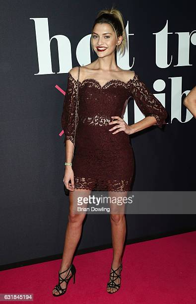 Fata Hasanovic attends the Maybelline Hot Trendsxhbition 2017 show during the MercedesBenz Fashion Week Berlin A/W 2017 at Motorenwerk on January 16...