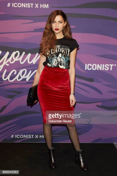 Fata Hasanovic attends the Young ICONs Award in cooperation with HM and Tiffany's Co at BRLO Brwhouse on February 14 2017 in Berlin Germany