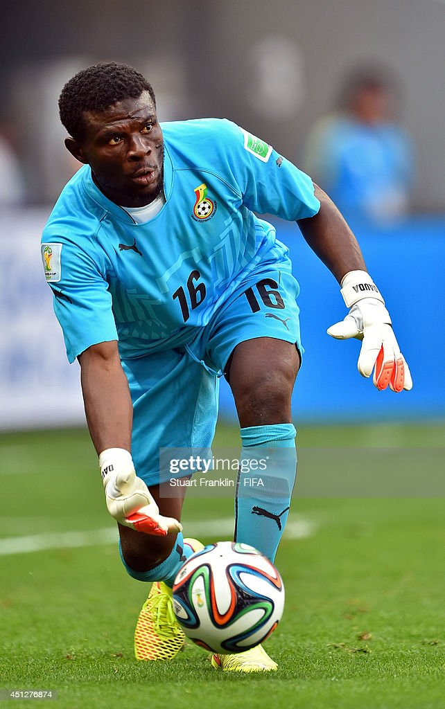 Fatawu Dauda of Ghana in action during the 2014 FIFA World Cup Brazil Group G match between Portugal and Ghana at Estadio Nacional on June 26, 2014 in Brasilia, Brazil.