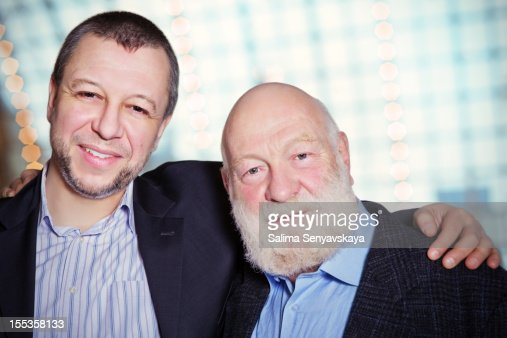 Father and Adult Son : Stock Photo