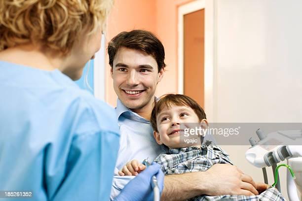 Pai e filho no Consultório Dentário