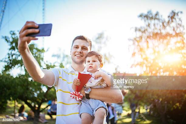 Father and child selfie