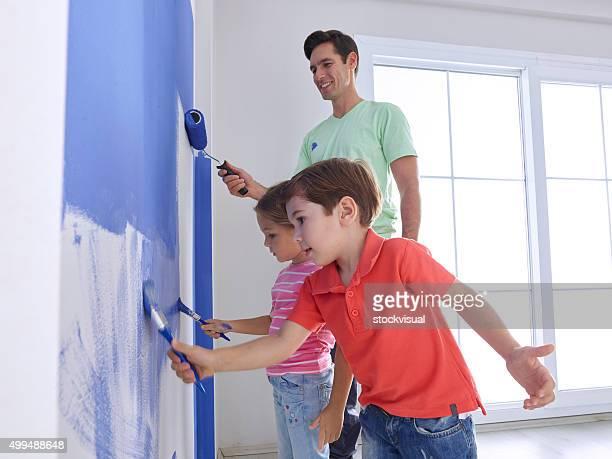 Padre e bambino dipinto di parete