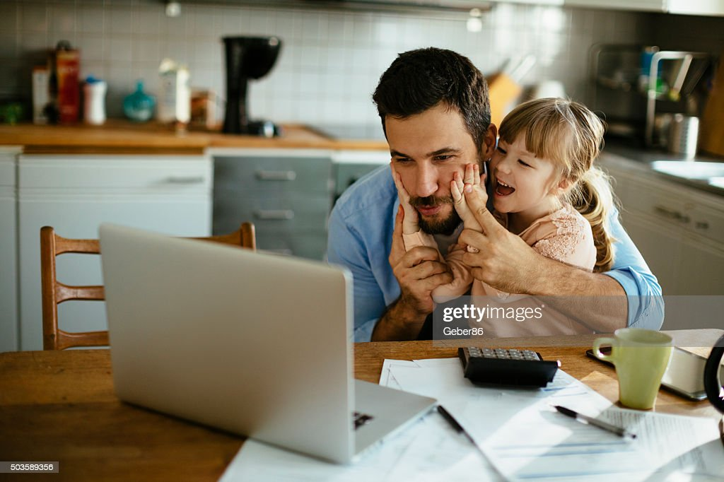 Father and daughter having fun : Stock Photo