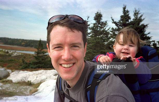 Father and daughter hike