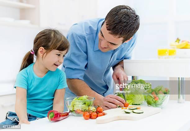 父と娘のキッチンを完備。