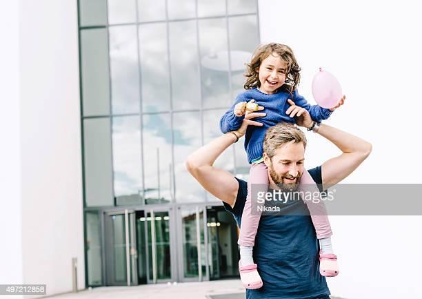 Vater und Tochter zusammen