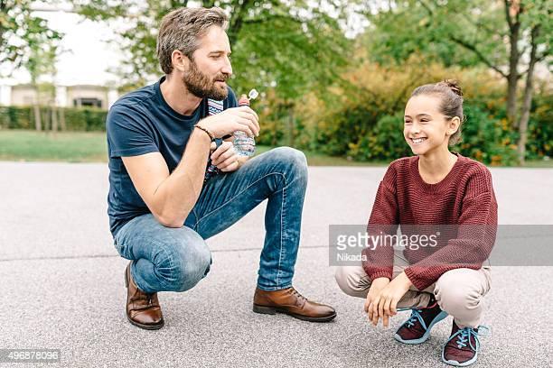 Vater und Tochter Entspannen