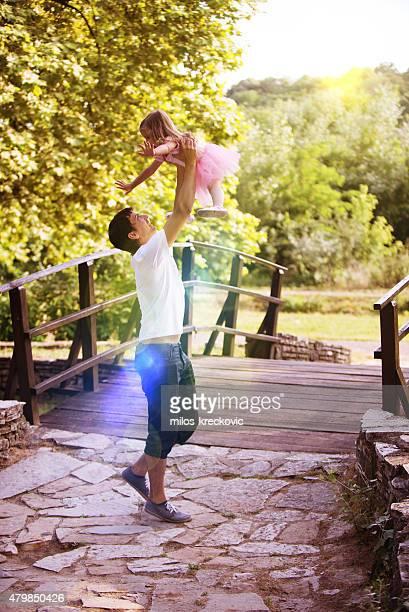 Padre y su hija ballerina
