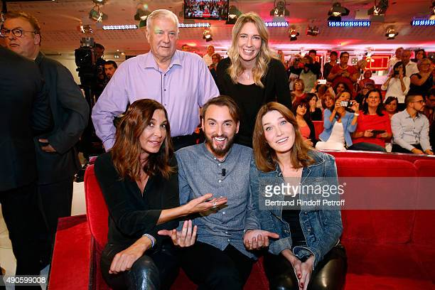 Father and Sister of Christophe Willem Christian and Sandrine Zazie Main Guest of the show Christophe Willem and Carla Bruni attend the 'Vivement...