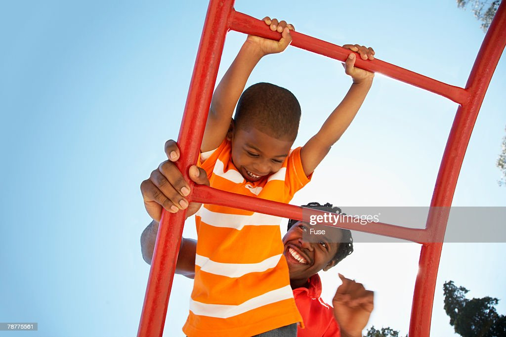 Father and Son at Playground