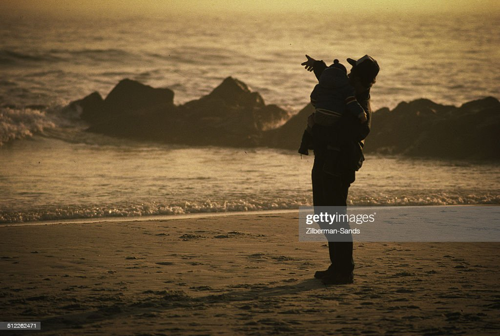 Father and Son at Seaside