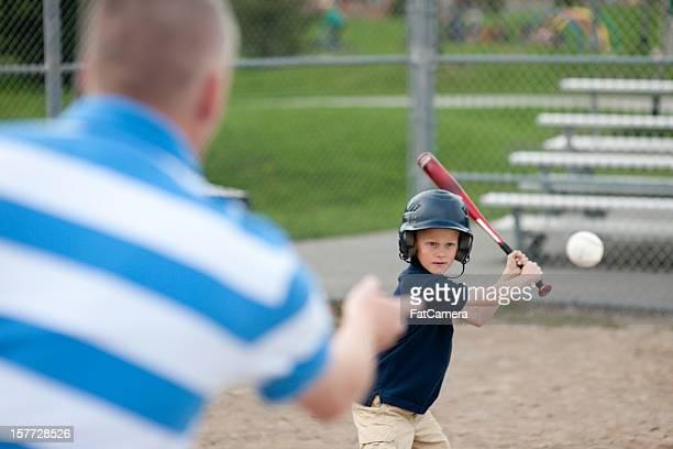 Father and son baseball