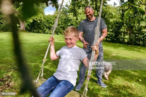 Father and son enjoying time together at the park