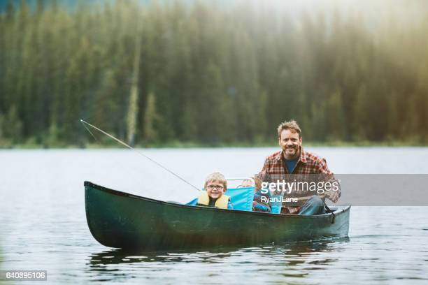 Vater und Sohn Angelausflug