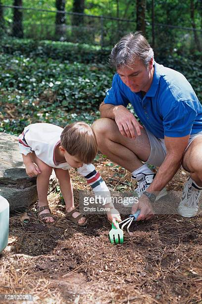 ACTLI087 Father and son gardening