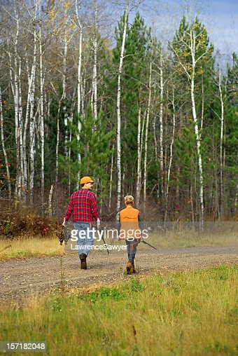 father and son go hunting