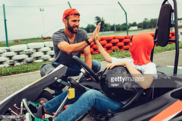 Father and son go-Karts