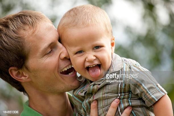 Vater und Sohn Spaß