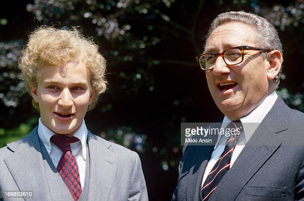 Father and son Henry Kissinger and David Kissinger at graduation from Concord Academy Massachusetts 1st June 1979