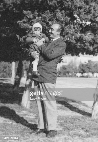 Father and son in 1949 : Foto stock