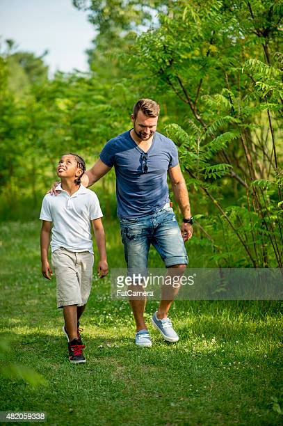 Father and Son in the Outdoors
