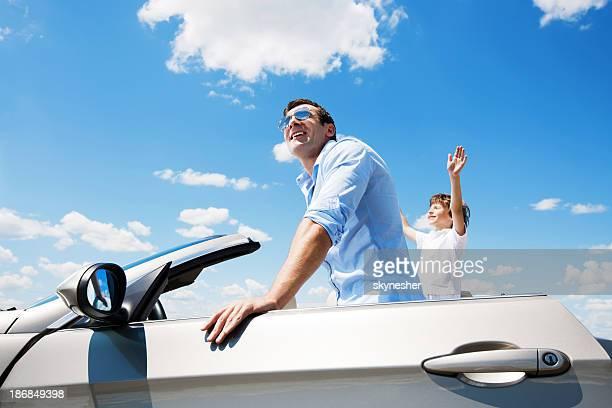 父と息子の内側転換車ます。