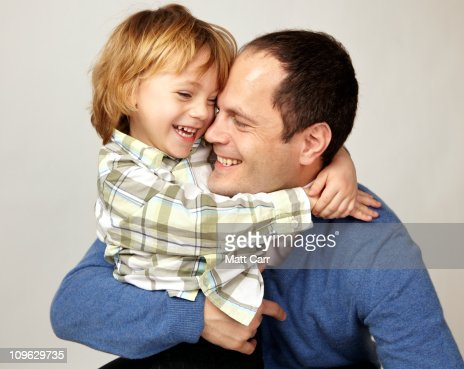 Father and son laughing : Stock-Foto