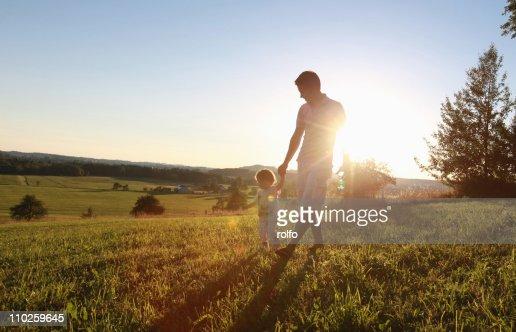 Father and son : Foto de stock