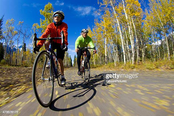 Father and Son Road Biking