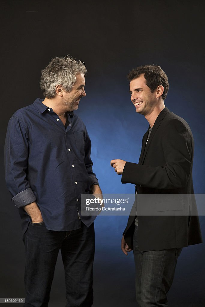 Father and son screenwriting duo Alfonso Cuaron, Jonas Cuaron are photographed for Los Angeles Times on September 17, 2013 in Beverly Hills, California.
