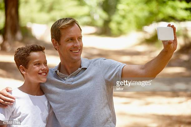 Father and son selfie