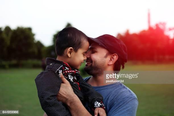 Father & child loving portrait