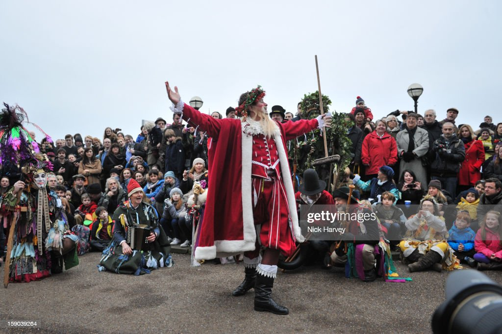 Father Christmas attends the Lions Part's 19th Twelfth Night celebrations at Shakespeare's Globe on January 6, 2013 in London, England.