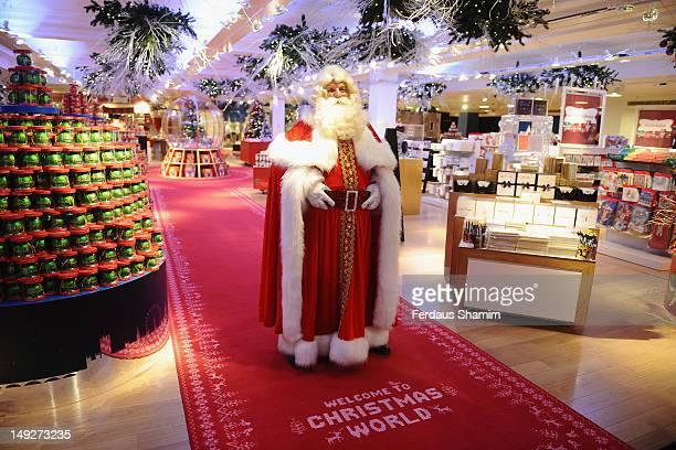 Father Christmas launches Christmas World at Harrods on July 26 2012 in London England