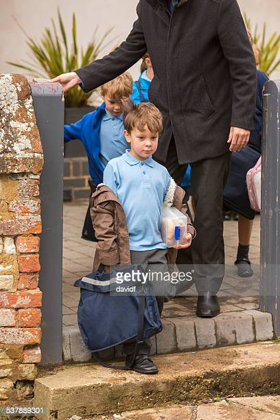 Father Dropping Child to School