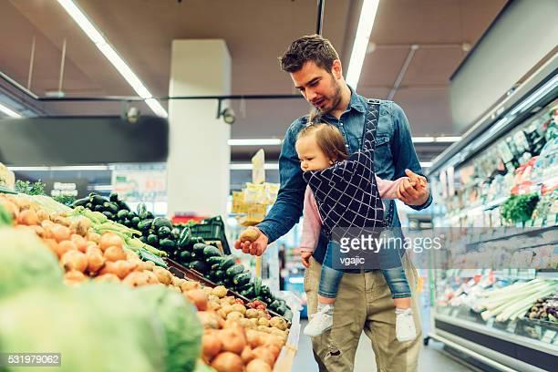 Vater Lebensmittel-Einkaufsservice.