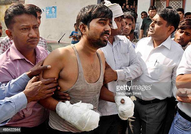 Father Jitender mourns over the death of two young children from a Dalit family who were burnt alive last night after their home was allegedly set...