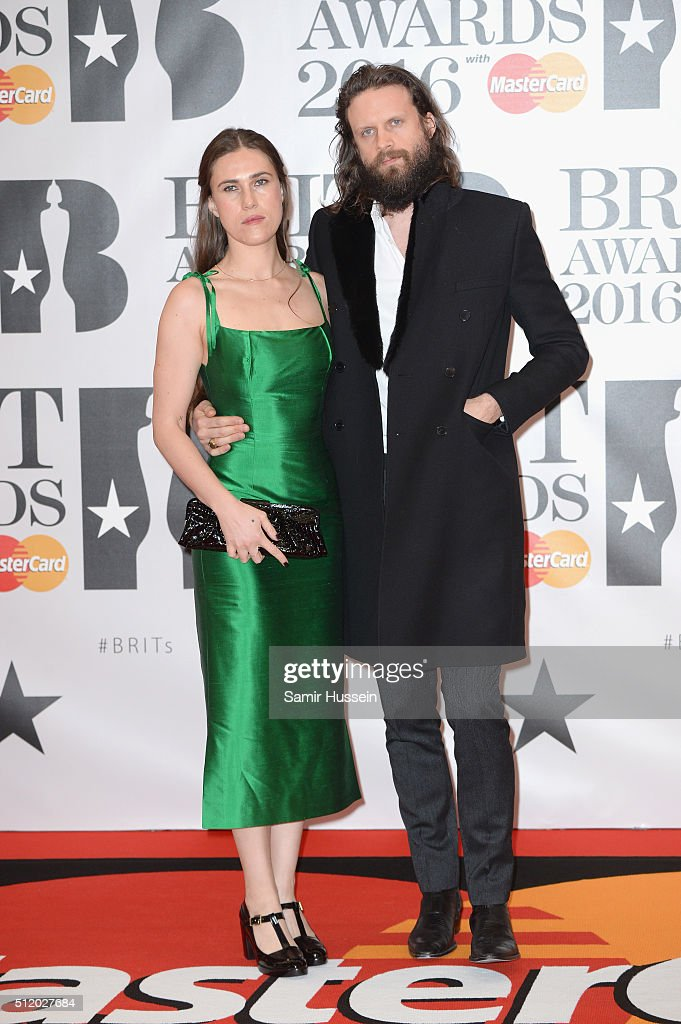 Father John Misty attends the BRIT Awards 2016 at The O2 Arena on February 24 2016 in London England