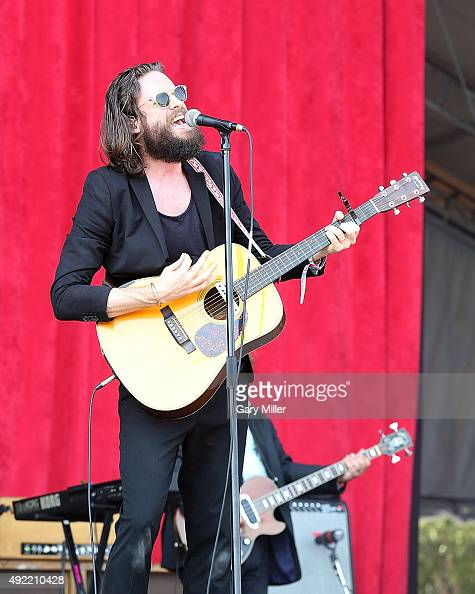 Father John Misty performs in concert on the 2nd day of the 2nd weekend of the Austin City Limits Music Festival at Zilker Park on October 9 2015 in...