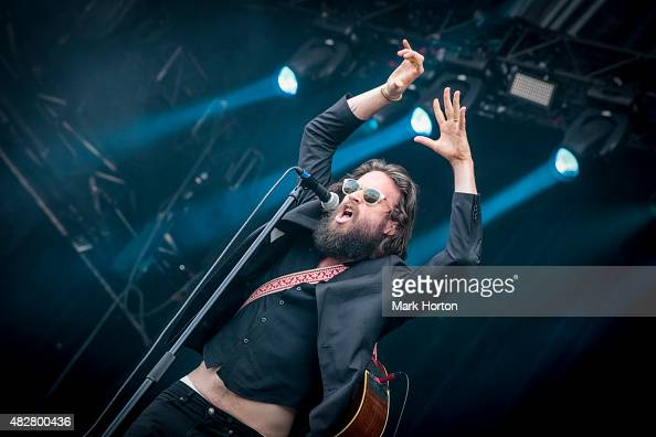 Father John Misty performs on Day 3 of the Osheaga Music and Art festival on August 2 2015 in Montreal Canada
