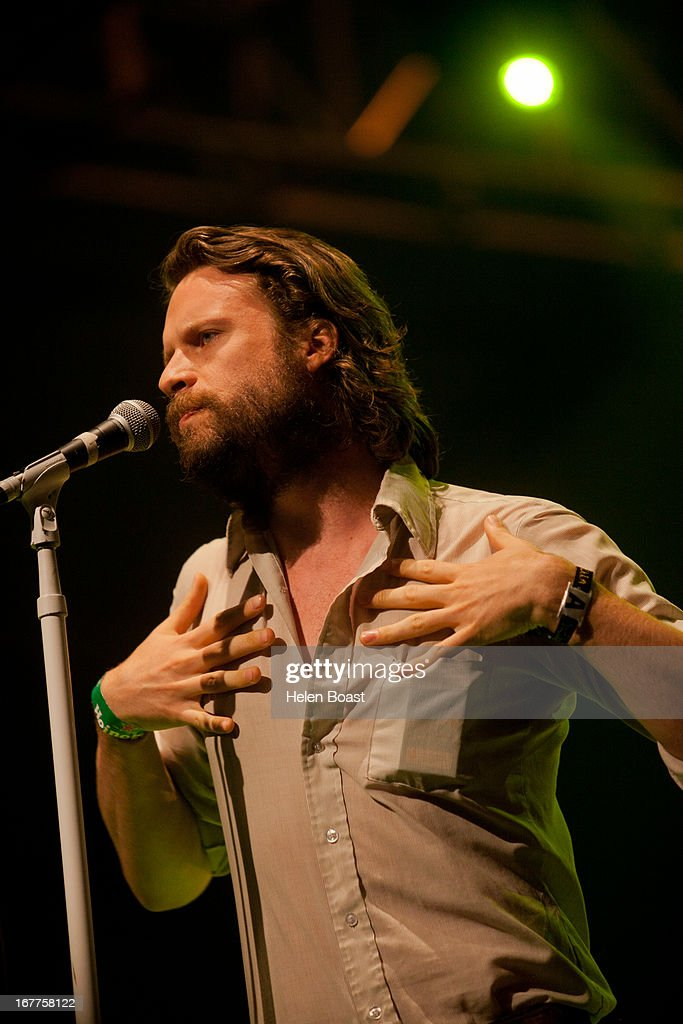Father John Misty performs on stage at 2013 Coachella Music Festival on April 21, 2013 in Indio, California.